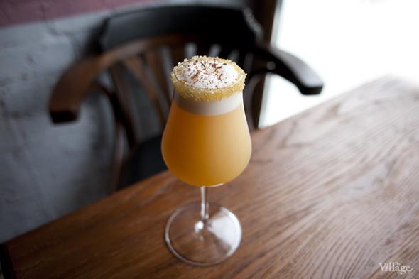 «Ромовая Крастата» (ром, сок грейпфрута, белок, сироп кокоса, ангостура) — 200 рублей. Изображение № 23.