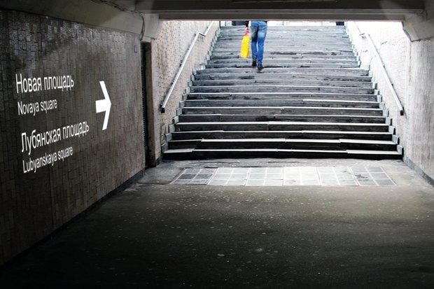 Для подземных переходов придумали световую навигацию. Изображение № 4.