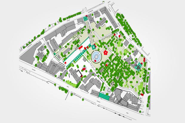 Таганский парк отреставрируют по проекту немецких архитекторов. Изображение № 1.