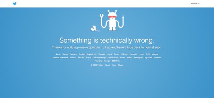 В работе Twitter произошёл сбой (обновлено). Изображение № 1.