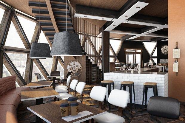 Подобные интерьеры начнут появляться в кофейнях сети Traveler's Coffee в 2014 году. . Изображение № 5.