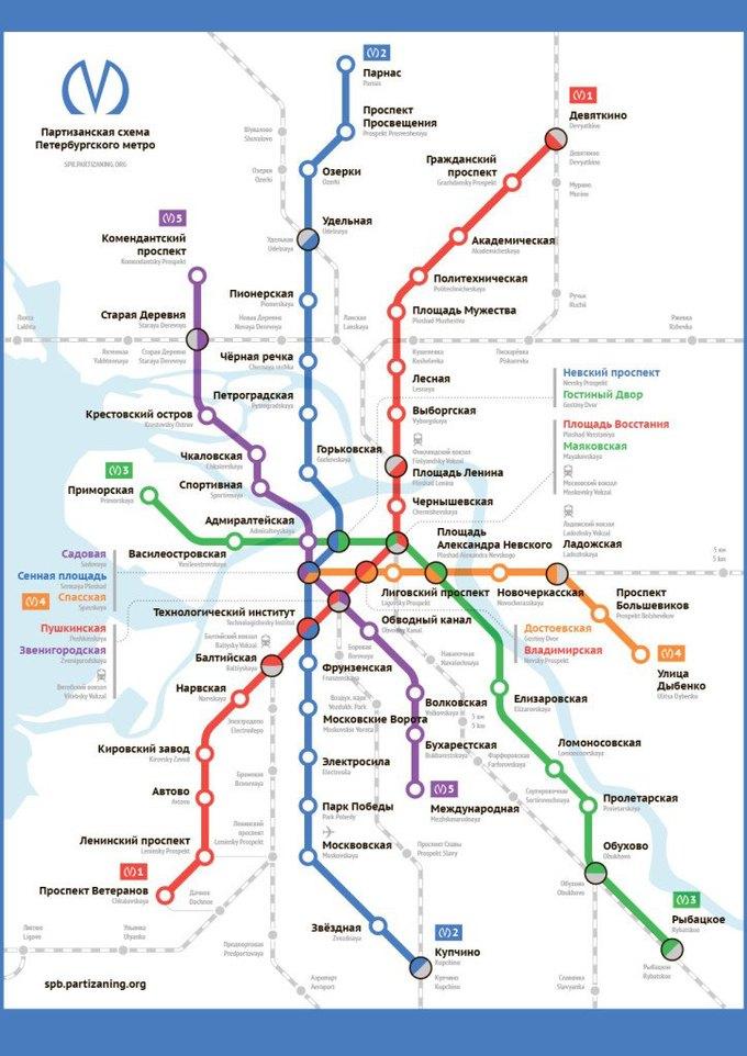 Для петербургского метро нарисовали альтернативную схему. Изображение № 1.