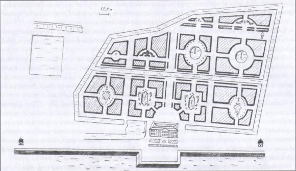 Деталь генерального плана. Голландский сад. Изображение № 2.