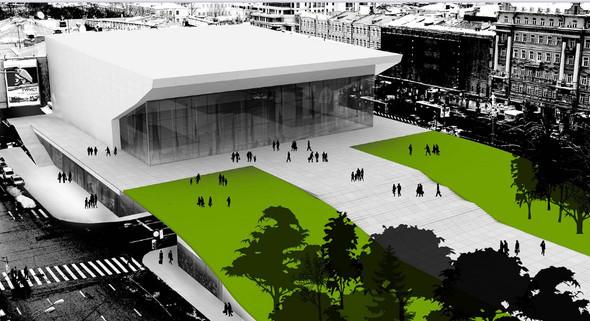 Изображение 5. Иностранные архитекторы представили проекты реконструкции кинотеатра «Пушкинский».. Изображение № 9.