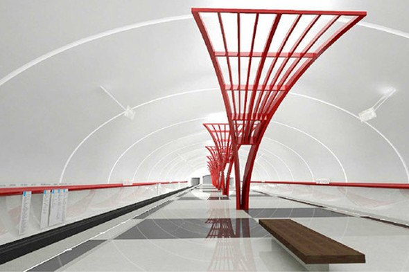 Открылась новая станция метро «Алма-Атинская». Изображение № 3.