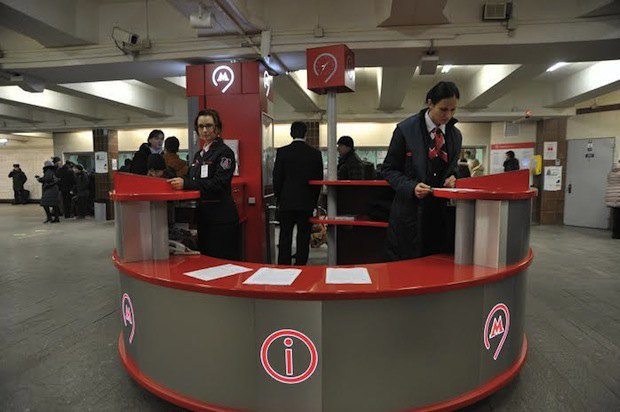 На пяти станциях московского метро установят информационные стойки «Живое общение». Изображение № 1.