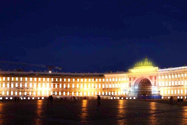 На ночь глядя: 12 проектов подсветки Главного штаба. Изображение № 74.