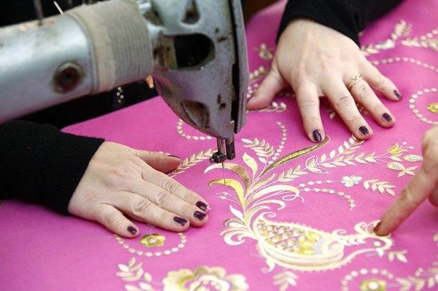 Во второй коллекции используются образцы вышивки из архивов строчевышивальной нижегородской фабрики. Изображение № 3.