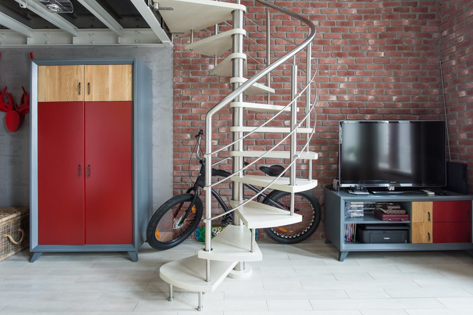 Двухуровневый лофт для семьи изтрёх человек. Изображение № 17.