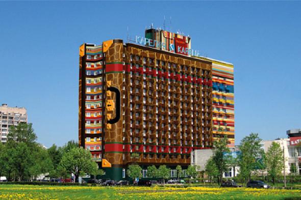 Предварительный эскиз проекта покраски гостиницы. Изображение № 4.