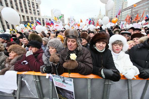 Митинг «За честные выборы» на проспекте Сахарова: Фоторепортаж, пожелания москвичей и соцопрос. Изображение № 47.