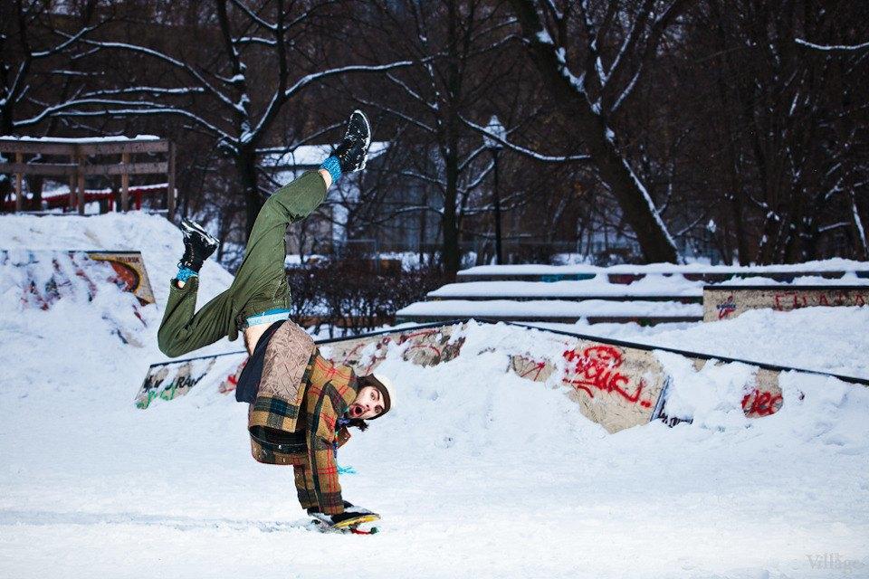 Люди в городе: Где катаются скейтеры зимой. Изображение № 4.