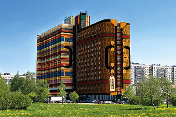 Предварительный эскиз проекта покраски гостиницы. Изображение № 3.