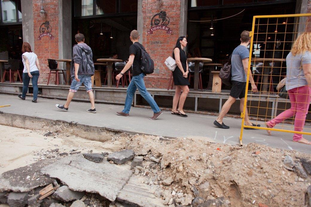Её раскопали: Пешеходные улицы Москвы за месяц до открытия. Изображение № 26.