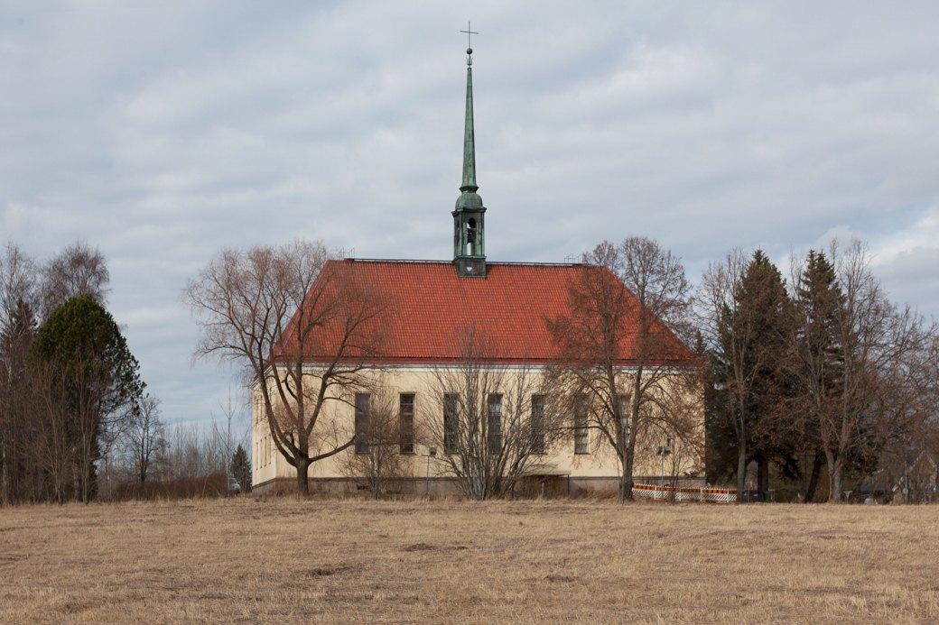Церковь Тайнионкоскенкирко  — старейшая (построена в 1932 году). Изображение № 41.
