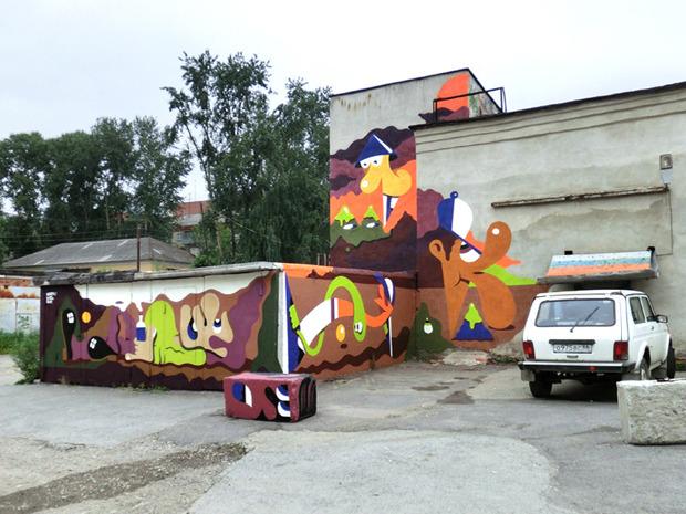 Герб Москвы: Версия граффити-художника Nootk. Изображение № 13.