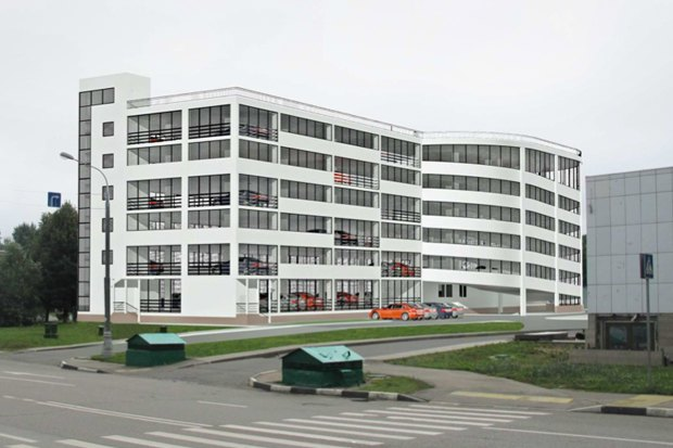 Многоуровневый гаражный комплекс. Севастопольский проспект, вл. 28. Изображение № 3.
