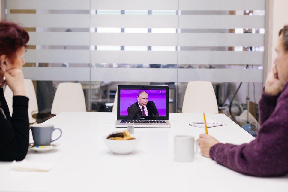The Village смотрит пресс-конференцию Путина спростыми телезрителями. Изображение № 3.