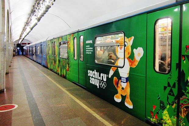 Фоторепортаж: Олимпийский поезд в московском метро. Изображение № 2.