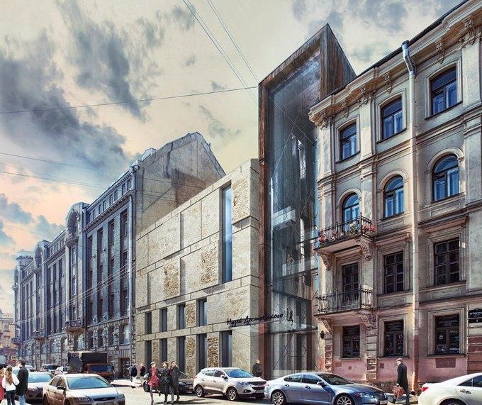 Появился проект современной пристройки для музея Достоевского. Изображение № 2.