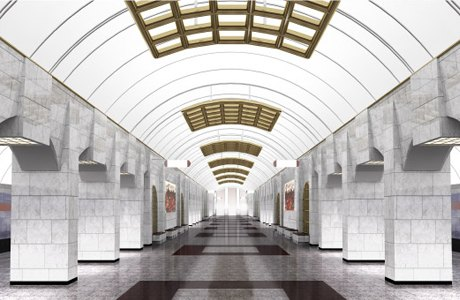 В сети появились эскизы станций коричневой ветки метро. Изображение № 8.