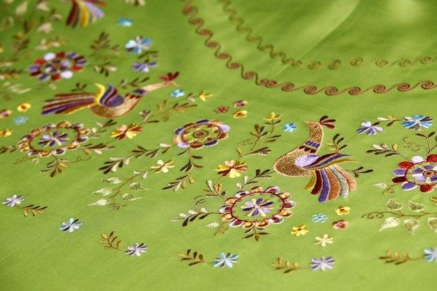 Во второй коллекции используются образцы вышивки из архивов строчевышивальной нижегородской фабрики. Изображение № 2.