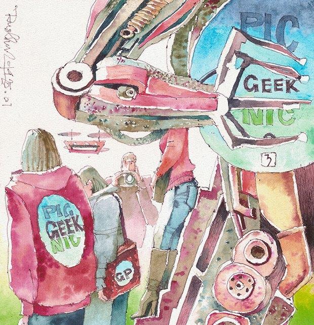 Клуб рисовальщиков: Geek Picnic. Изображение № 5.