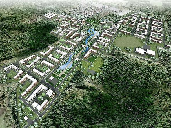 Изображение 2. На границе с Новогорским лесопарком спроектировали жилой район.. Изображение № 3.