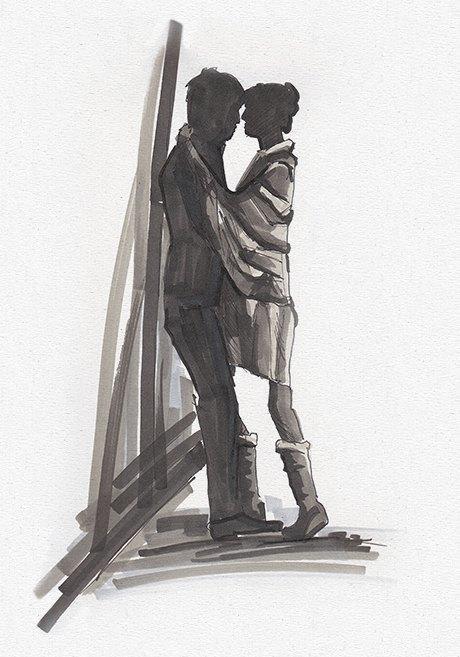 Влюблённые пары на улицах Москвы. Изображение № 11.