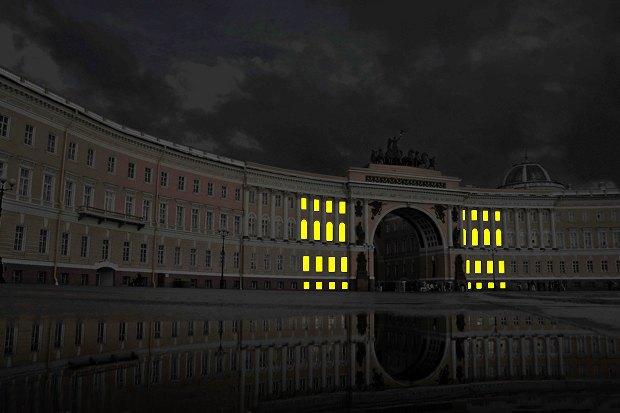 На ночь глядя: 12 проектов подсветки Главного штаба. Изображение № 58.