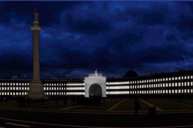 На ночь глядя: 12 проектов подсветки Главного штаба. Изображение № 67.