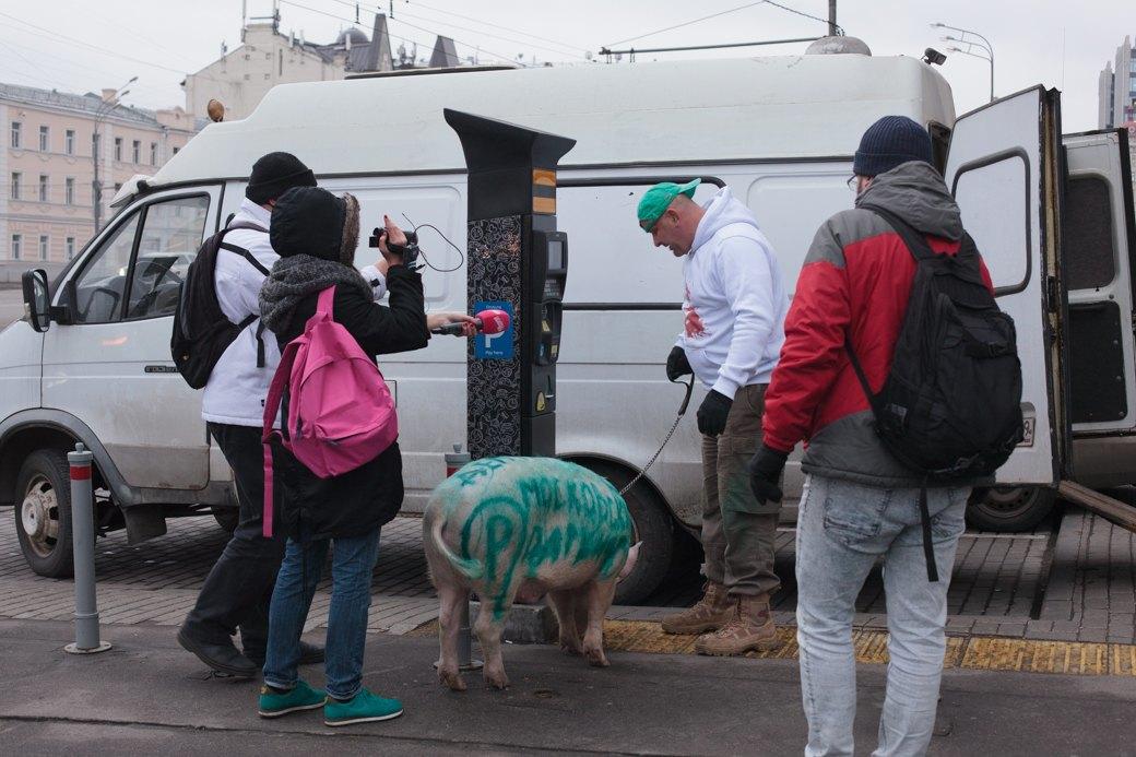Как паркмен и боров пикетировали московский департамент транспорта. Изображение № 10.