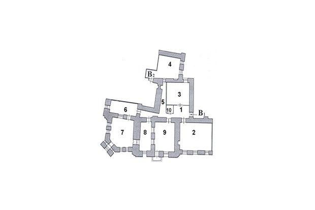 Планировка квартиры, в которой жил Иосиф Бродский (его комната под номером 8). Изображение № 2.