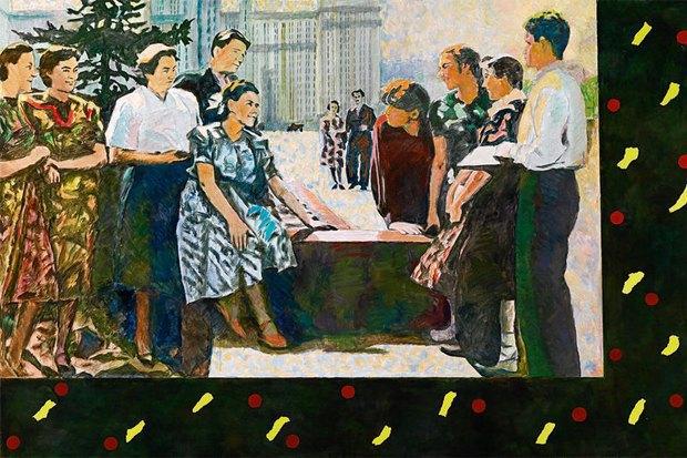 Илья Кабаков. В университете. 1972, 2002. Холст, масло. Courtesy Dorotheun. Изображение № 2.