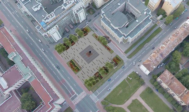 Упамятника Дзержинскому наШпалерной обустроят сквер. Изображение № 4.