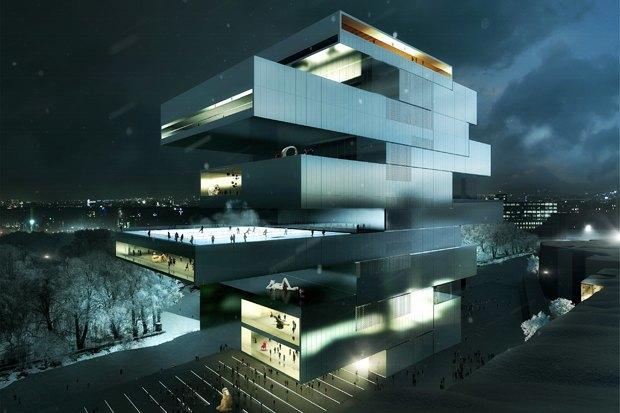 Три проекта нового здания ГЦСИ. Изображение № 6.