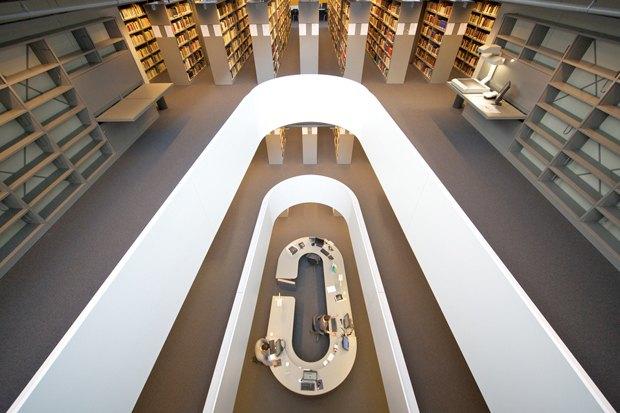 Библиотека факультета психологии, Свободный университет Берлина. Изображение № 1.