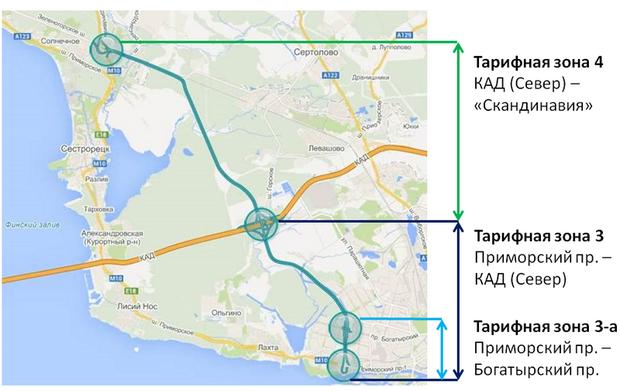 С 15 мая вступают в силу новые тарифы на проезд по ЗСД. Изображение № 2.