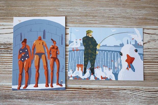 В «Буше» теперь можно отправить открытки силлюстрациями петербургских художников. Изображение № 2.