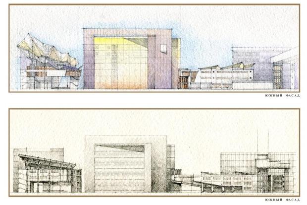 Архитектурное решение комплекса фондохранилища. Вариант 2. Изображение № 8.