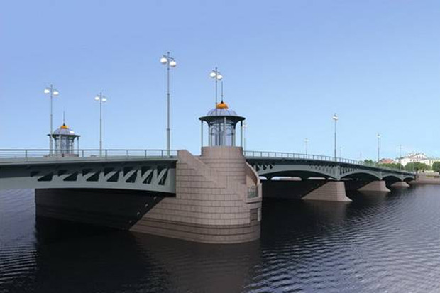 Власти согласовали проект Ново-Адмиралтейского моста. Изображение № 2.