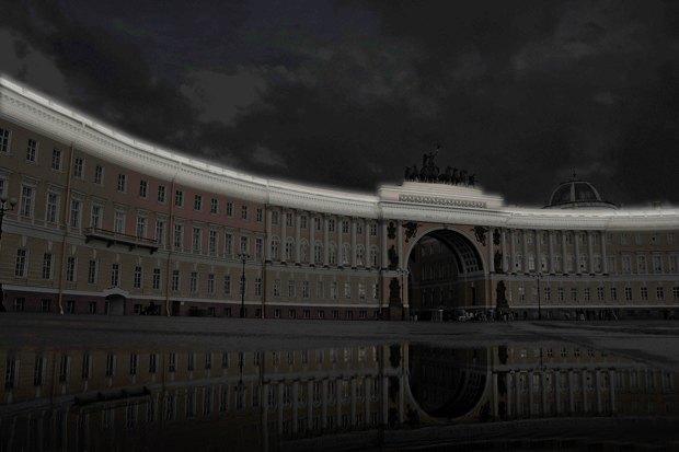 На ночь глядя: 12 проектов подсветки Главного штаба. Изображение № 56.