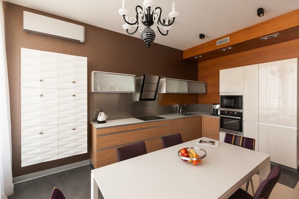 Трёхкомнатная квартира сострогим интерьером. Изображение № 9.