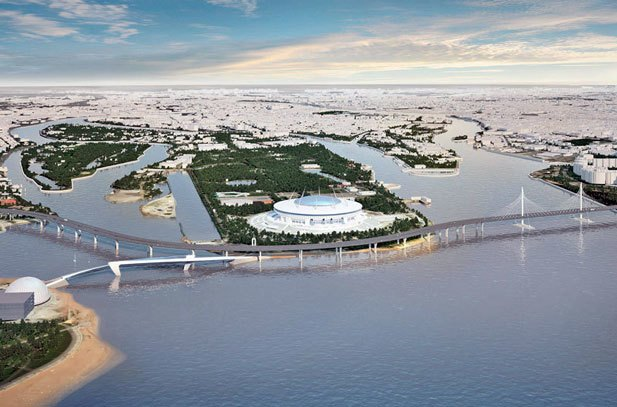 Через Неву предлагают построить двухъярусный мост с магазинами и ресторанами. Изображение № 3.