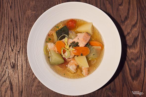 Овощной суп с рыбой и морепродуктами — 370 рублей. Изображение № 42.