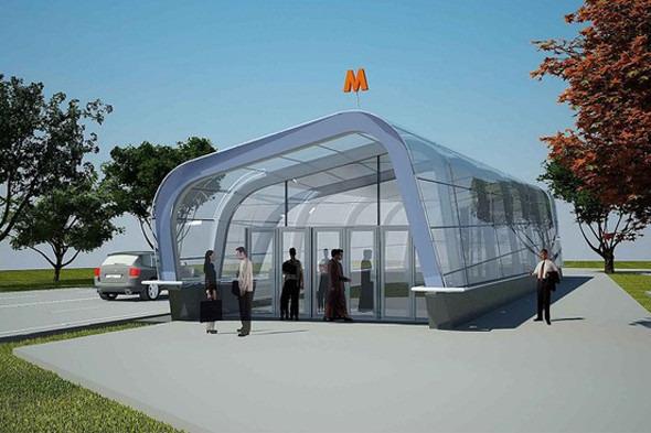 Мэрия показала новую станцию метро «Новокосино». Изображение № 2.