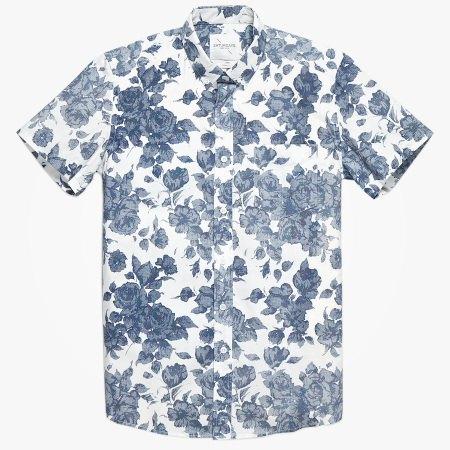 Рубашка Saturdays Surf NYC Esquina Floral White — 3000 рублей вместо 4500. Изображение № 3.