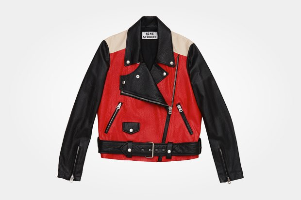 Кожаная куртка Acne за 46 770 рублей со скидкой 30 % (стоила 66820 рублей). Изображение № 3.