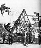 Первые аттракционы в парке Горького. Построены в 1928 году. В 30-е годы на территории появилась «Таинственная комната» — аттракцион для взрослых. Изображение № 14.