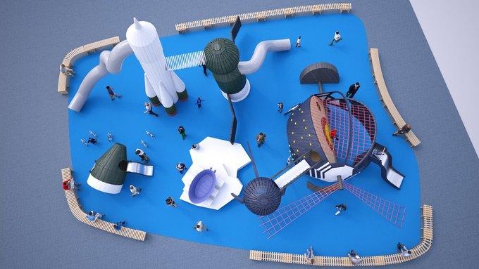 На ВДНХ появится детская площадка смоделями космических кораблей. Изображение № 1.